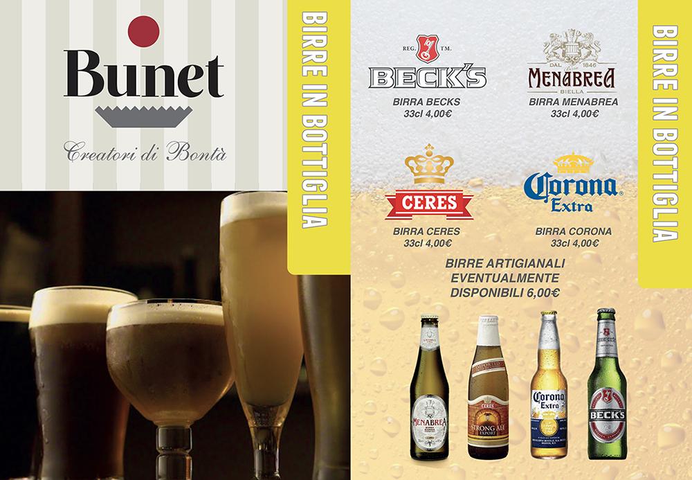 menu birre