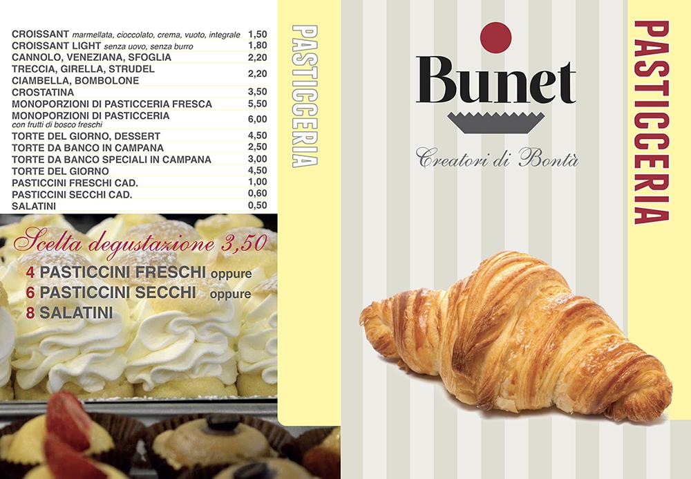 menu pasticceria