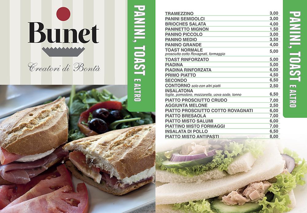 menu panini